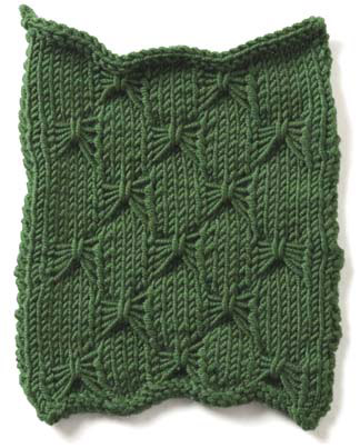Knitting Butterfly Stitch Pattern : butterfly stitch