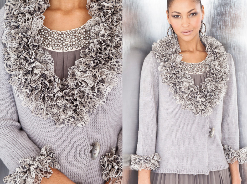 Vogue Knitting : Flaunt that flounce! Yarns that ruffle, ripple, ruche and roll infuse ...