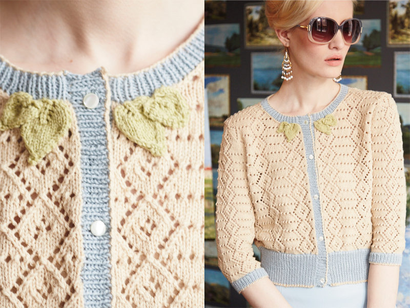 Vogue Knitting : Lacy cardis are the paragon of feminine elegance.