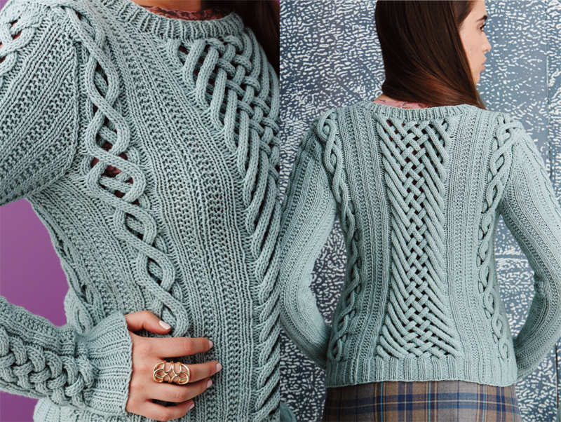 Vogue Knitting : Dazzling cables put an interesting twist on a time-honored technique.