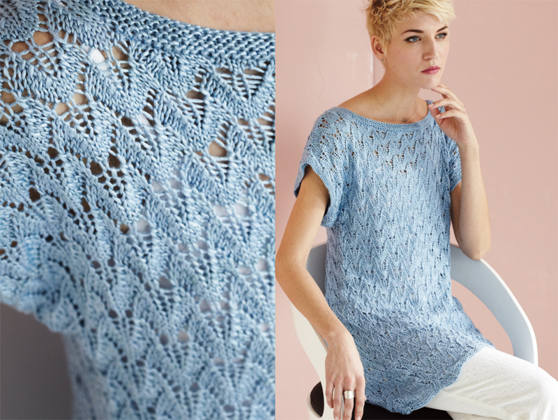 Vogue Knitting : Cool lacy looks in shades of sea and sky.