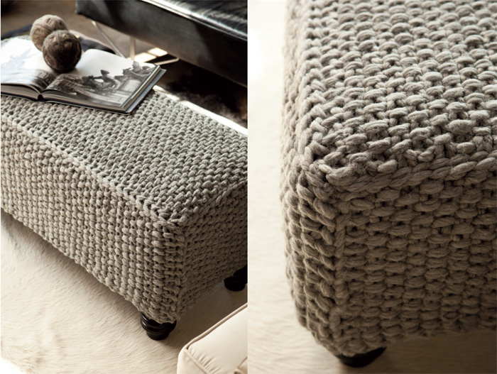 Interiors, exteriors...Our ulterior motive? Exquisite knits for home ...