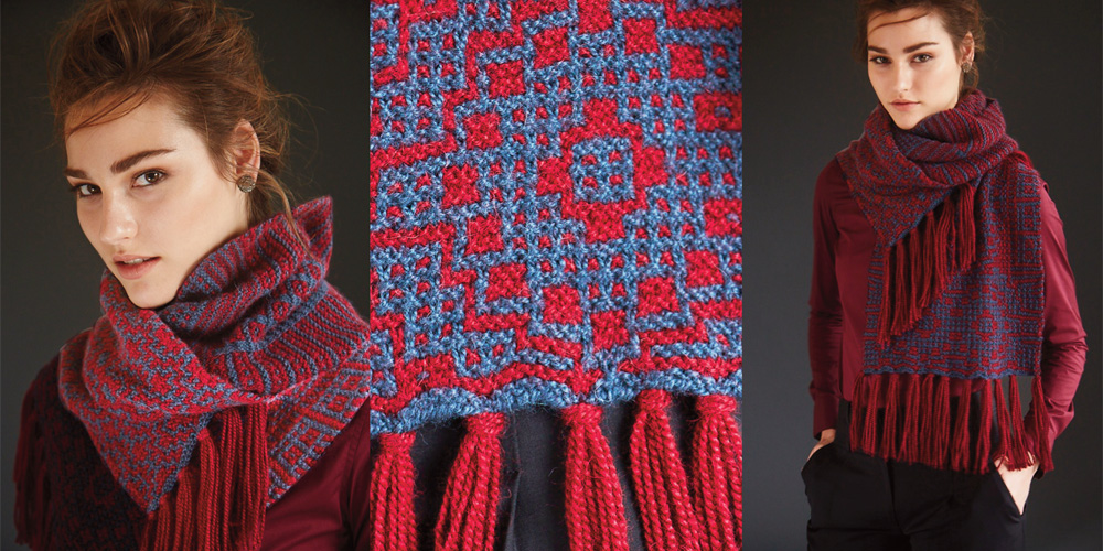 #5 Long Fringed Scarf designed by John Brinegar in <em>Sport Weight</em> by Blue Sky Alpacas.
