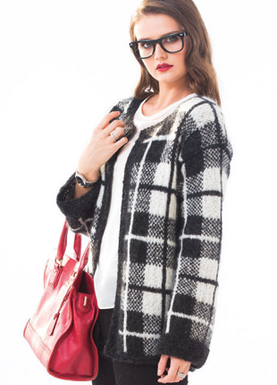 #17 PLAID CARDIGAN