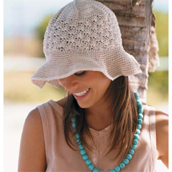 Vogue Knitting Patterns For Hats : FLOPPY-BRIM HAT