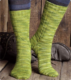 seed stitch socks design by jeni chase standard length socks with a