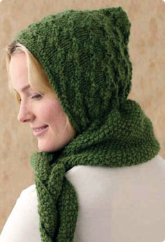 Free Knitting Pattern For A Hooded Scarf : Vogue Knitting Holiday 2010 Potter Craft Hooded Scarf