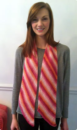 Debbie Bliss Diagonal Striped Scarf