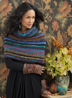 Free Knitting Patterns Noro Yarn : Knit Noro Accessories Welted Cowl