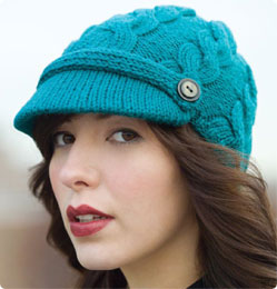 Vogue Knitting Patterns For Hats : Stitch Nation Cabled Chapeau